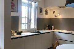 una vetrata verde limone | cucina | VAAM architetti